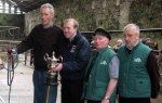 Championship winner Ted O'Sullivan receives the Appelbe Trophy from John Appelbe with Hereford Society judge & President Timmy O'Sullivan and Pat McCarthy IHBS