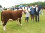 Andy O'Connell with owner Owen O'Neill and Judge Pat Sheedy
