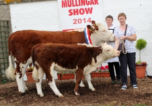 Reserve  Champion Mullingar Kilsunny Doreen's Ivy with owner Christine Drumm