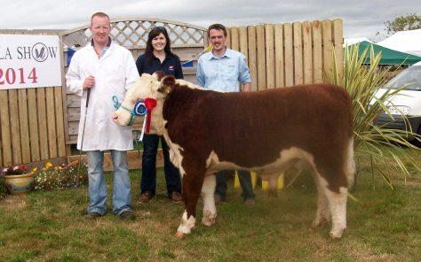 Reserve Champion Clondrina 1110th with Declan
