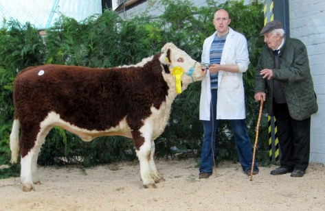 Sold at €4,100  Caonach Smart with owners David and Willie Jones