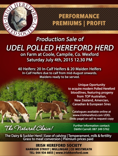 Production Sale of Quality Stock from the Udel Polled Herd Sat July 4th 2015