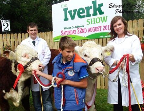 Young breeders in action at Iverk Show