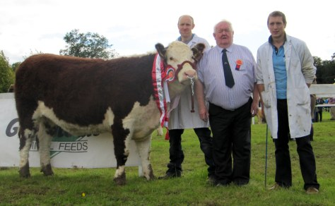 Champion Caonachpoll 1 Theresa with David Jones, Judge John Neenan President IHBS and William Jones