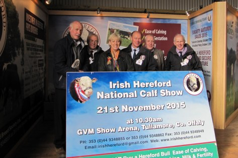 1Pictured with the Minister for Arts, Heritage and the Gaeltacht Heather Humphreys at the launch of the schedule for the National Hereford Calf Show at the NPC were Eamon McKiernan, Monasterboice, Martin Murphy, Chairman Munster Branch IHBS, the Minister, Larry Feeney, IHBS & Certified Hereford Irish Beef, Eric Humphreys, Cavan Monaghan Branch IHBS and Willie Branagan Chairman IHBS