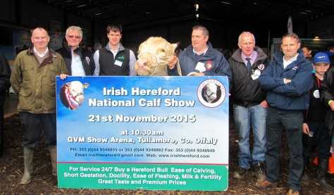 2Pictured Denis Kiely GVM Kilmallock, Liam Philpott Vice Chairman IHBS, Denis Brennan, Slaney Foods International, Nigel Heatrick Irish Hereford Prime Willie Branagan Chairman IHBS and Don O'Brien ABP Nenagh.