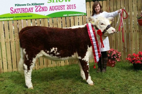 Champion Female 'Knockduffpoll1 Emma Jane' with Fiona Jones exhibitor