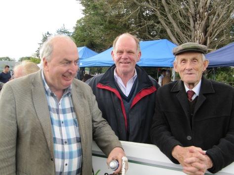 Ivan Jones, Willie Kennedy and Tom Mulry enjoying the judging