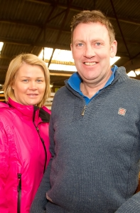At the Hereford Society Store Cattle show and sale last Monday in Golden Vale Mart, Kilmallock: Karen and Darren Wallace, Dromina photo Ita West