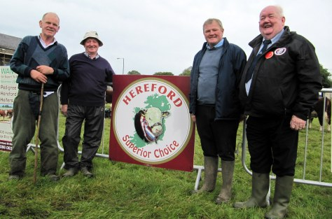 Hereford show organisers Willie Kennedy, Timmy O'Sullivan with Show/ Fair Chairman Dermot Kelly and Hereford  judge John Neenan