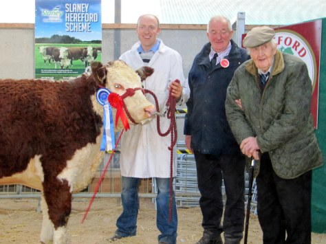 Reserve Female Champion Caonachpoll 1 Anna pictured with David Jones, show judge John Holloway and Willie Jones