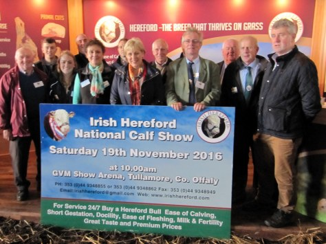 Minister for Arts Heritage, Gaeltacht and Rural Affairs launches the National Hereford Show at the recent NPC. The Minister is pictured with Show sponsors, organisers and council representatives