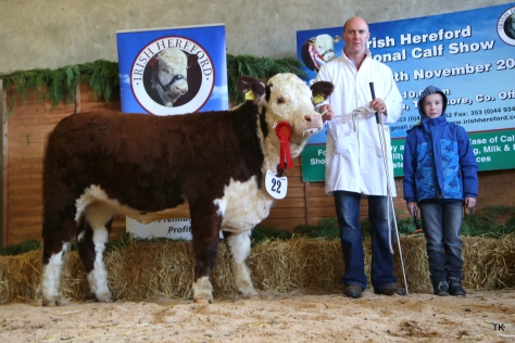 Winner Nov - Dec '15 heifer class Riverrock Naughty Bea with Tony Hartnett and Gerry O'Riordan