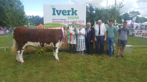 1. Edward Dudley receiving the Tourtane Cup from Heather&Henry Parr sponsor of cup Martin Murphy judge &Iverk show reps