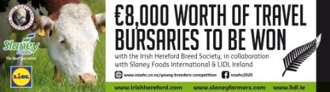 Win 8K worth of Travel Bursaries with Irish Hereford Breed, Slaney Foods and Lidl Ireland